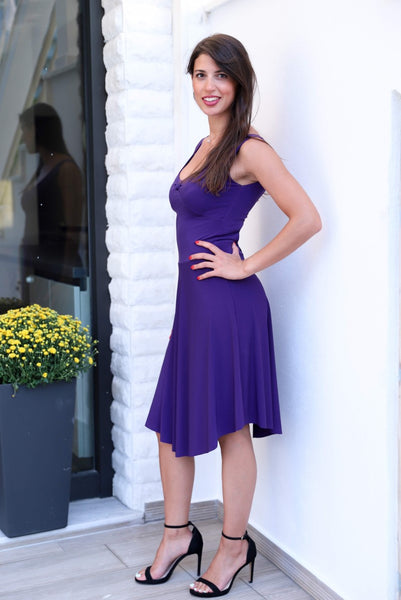 Tango Dress With Keyhole Cutout Purple
