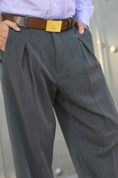 Men's Striped Dark Gray Tango Pants