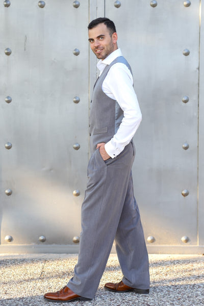 conSignore Striped Gray Tango Pants