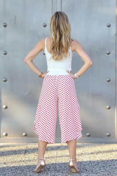 Polka Dot Capri Pants