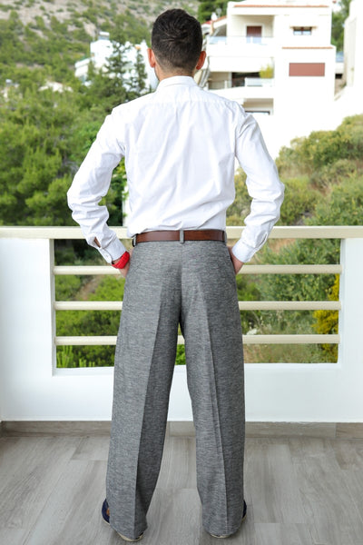 conSignore Light Grey 100% Linen Tango Pants