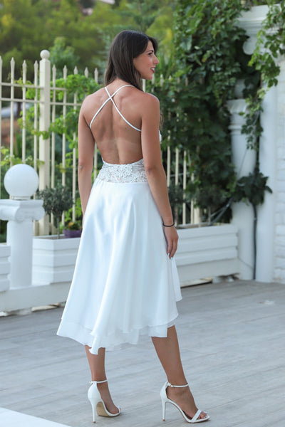 Open Back Wedding Tango Dress