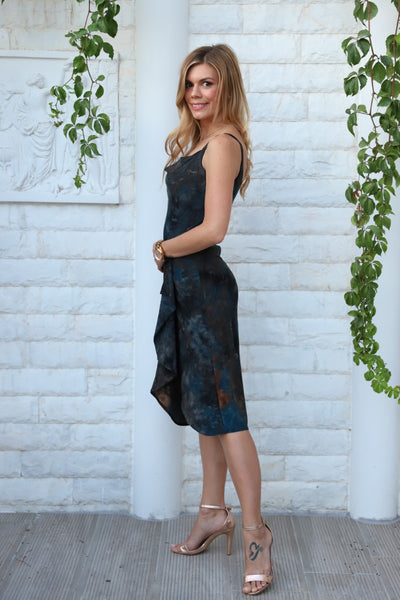 Dark Petrol Tango Wrap Dress