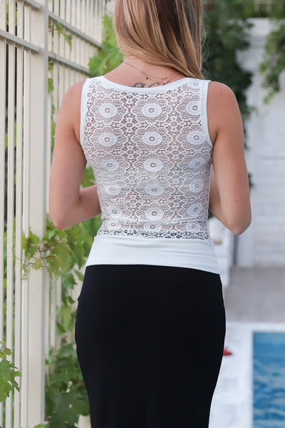 Tango Top with Lace Back