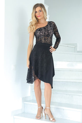 One Side Lace Tango Skirt