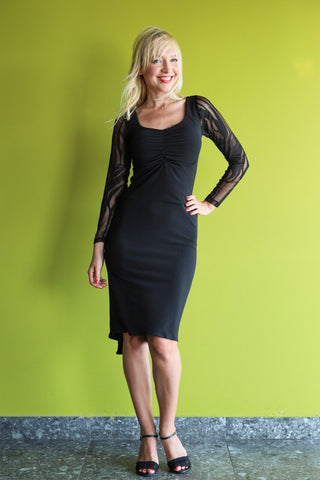 Fishtail Tango Dress with Lace