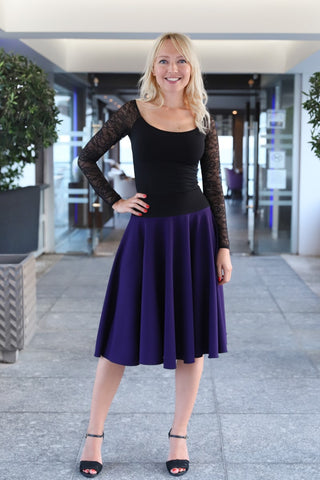 Purple Full Swing Tango Skirt