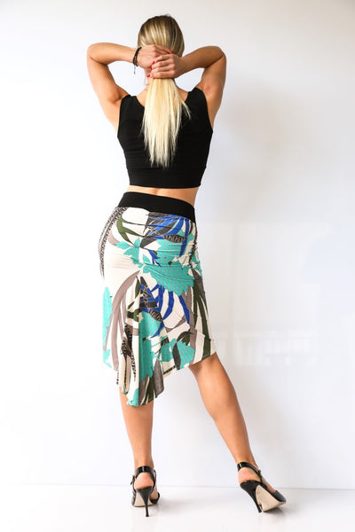 Exotic Printed Fishtail Tango Skirt