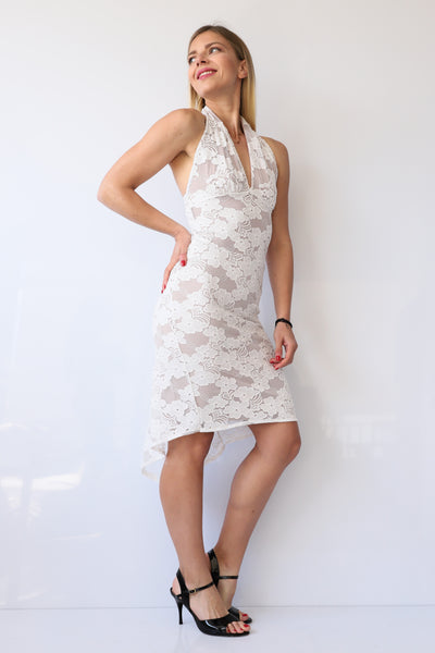 lace white tango dress