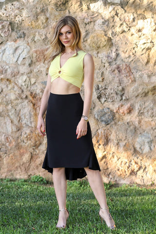 Tango Skirt With Long Fishtail