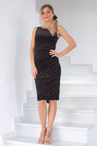 Sparkling Keyhole Back Velvet Fishtail Dress
