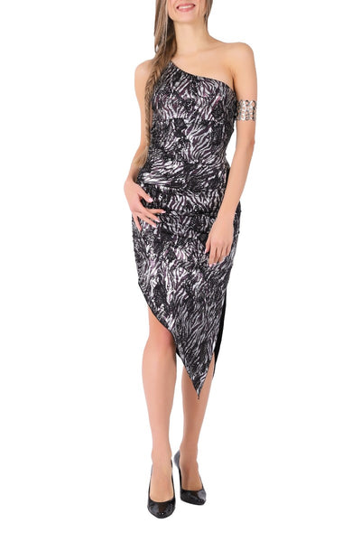 Tight Fit Asymmetric Tango Dress