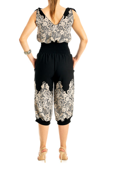 Black Capri Jumpsuit for Tango
