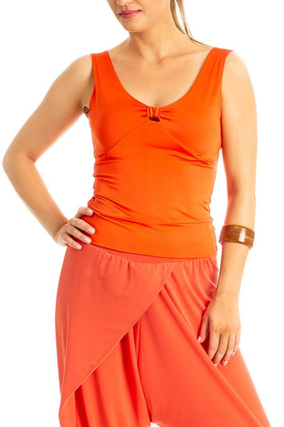 Tango Top with Keyhole Cutout - Coral