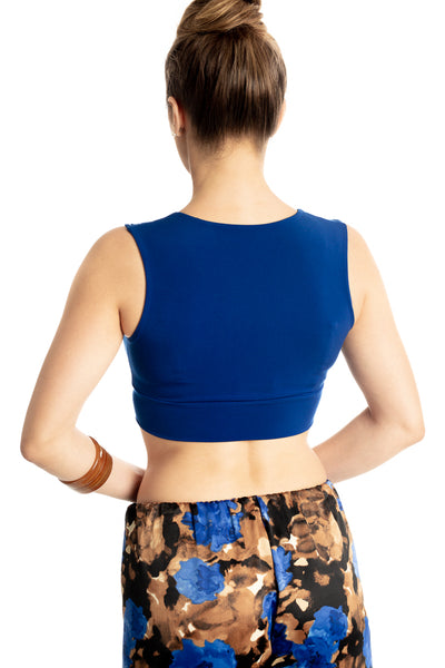 Crop Top with Ruched Details - Electric blue