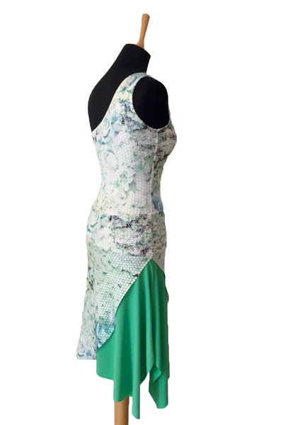 Green One-Shoulder Tango Dress
