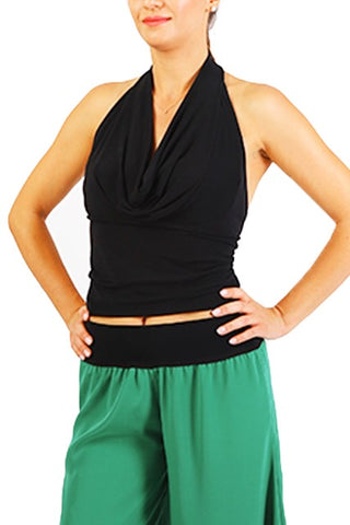 Halter Neck Tango Top - Black