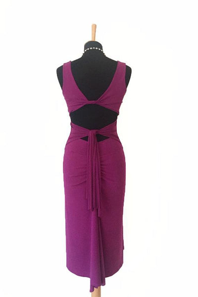 Penelope Dress - Dark Fuchsia