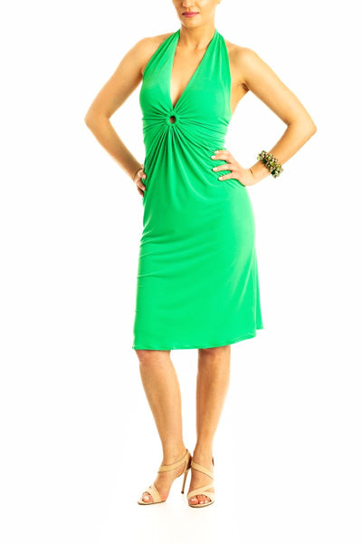 Gabriella Tango Dress - Bright Green