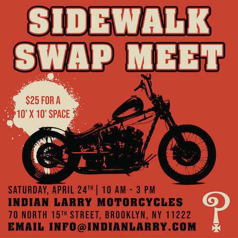 Indian Larry Motorcycles, Motorcycle Swap Meet, Sidewalk Swap Meet, Motorcycle Events
