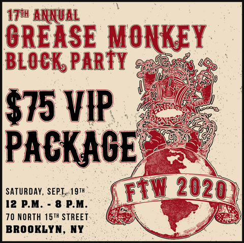 indian larry motorcycles, 17th annual grease monkey block party, vip package
