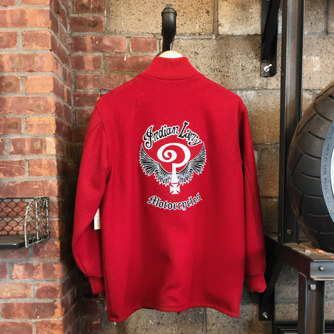 Vintage Red Indian Larry Letterman Jacket (SOLD AS IS)
