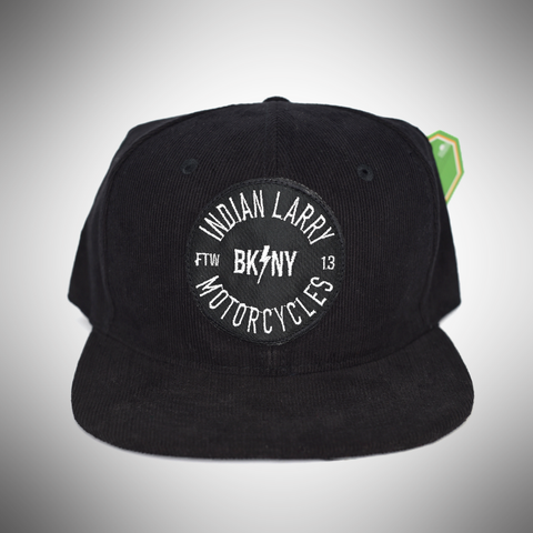 Black Corduroy Trucker Cap with BK/NY Patch