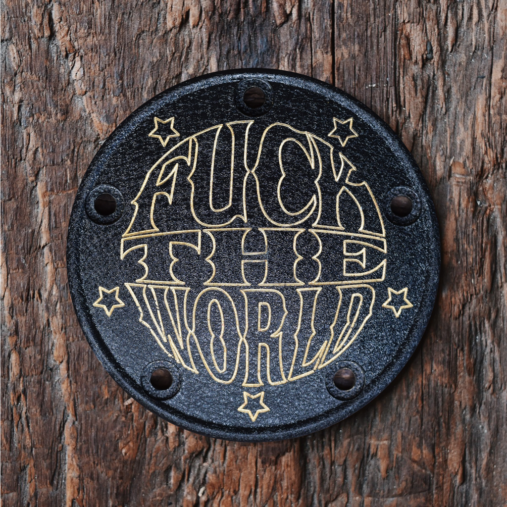 FTW 5 Hole Points Cover - Wrinkled Black + Brass
