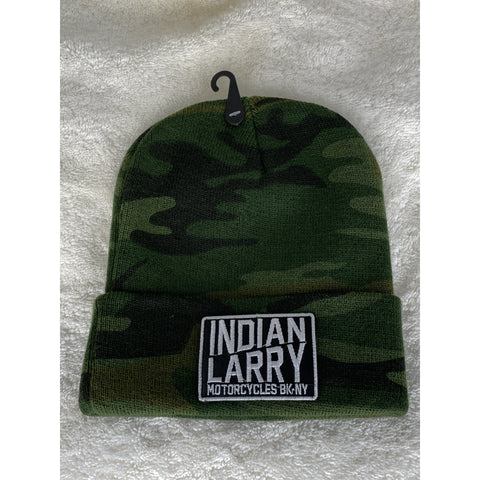 Camo Knit Hat with BK/NY Patch