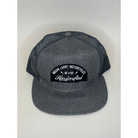 Handcrafted Patch Charcoal Trucker Hat