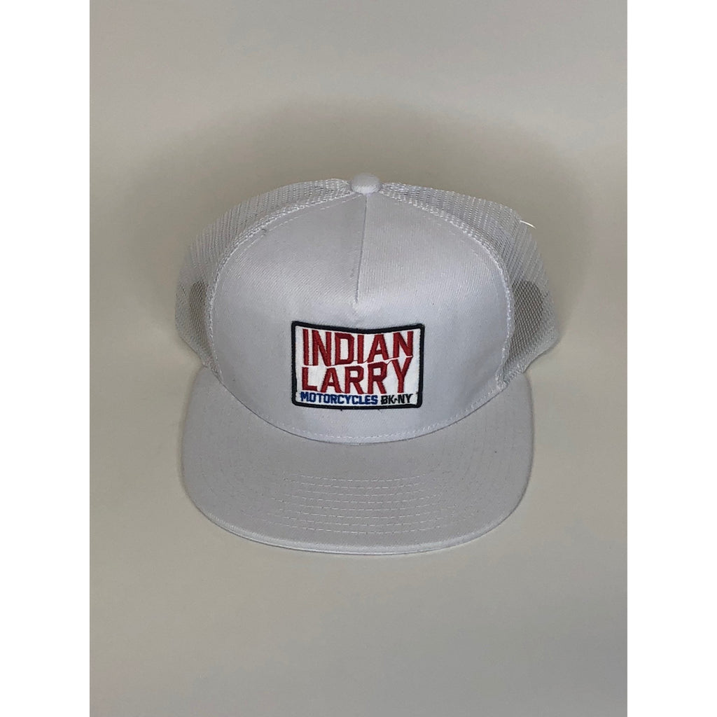 White Trucker Cap with BK/NY Patch