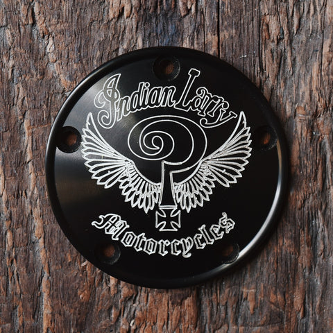 Indian Larry Logo 5 Hole Points Cover - Matte Black
