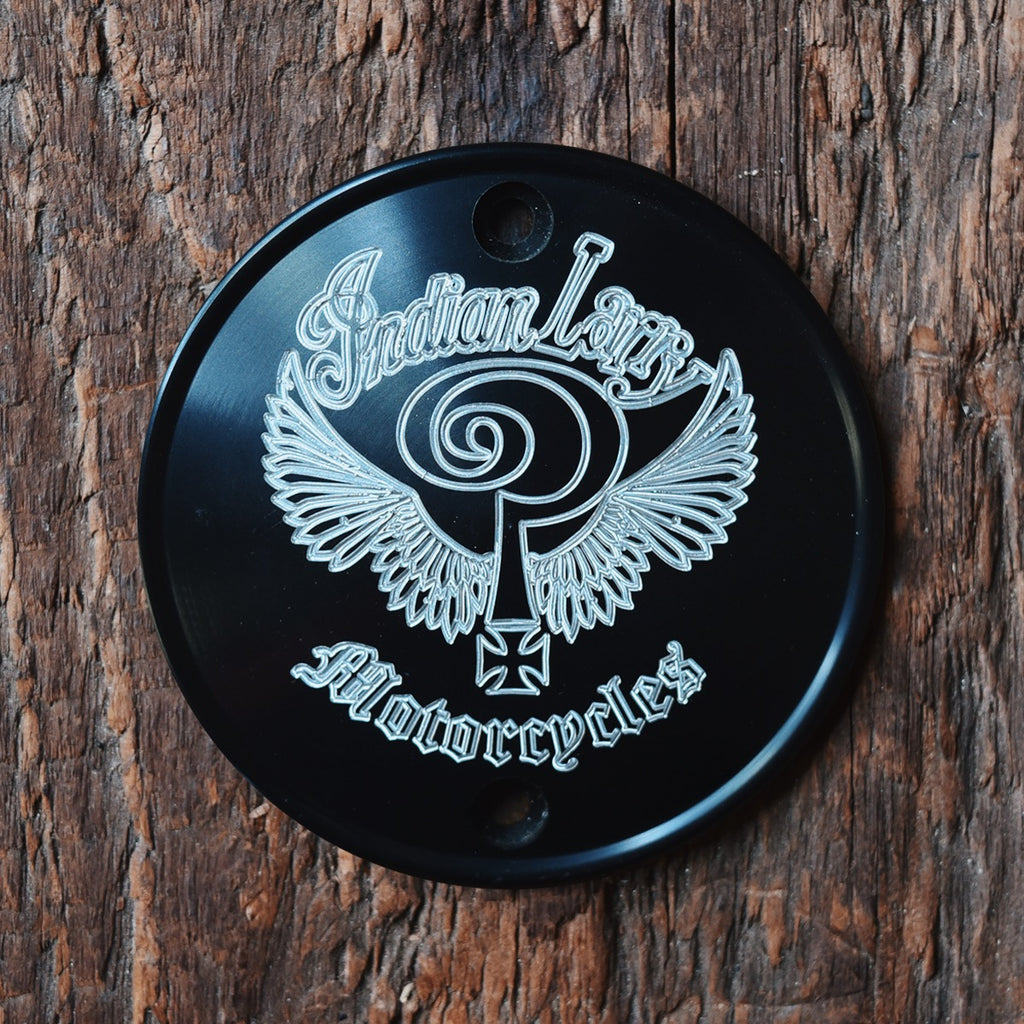 The Indian Larry Logo Vertical Points Cover - Matte Black