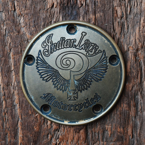 Indian Larry Logo 5 Hole Points Cover - Antiqued Brass