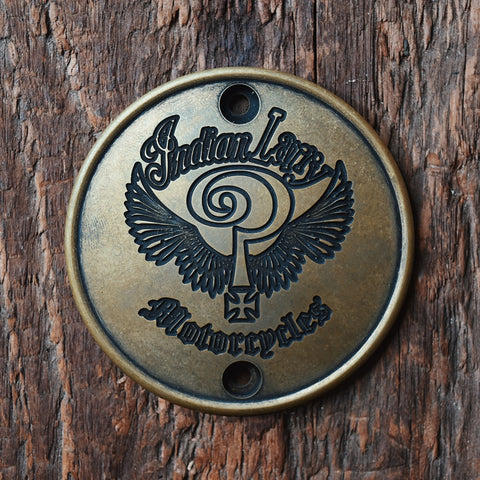 The Indian Larry Logo Vertical Points Cover - Antiqued Brass