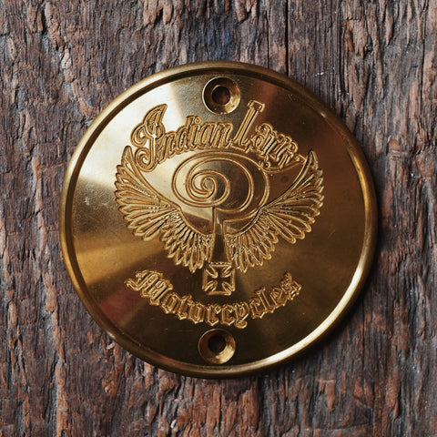 Indian Larry Logo Vertical Points Cover - Brass