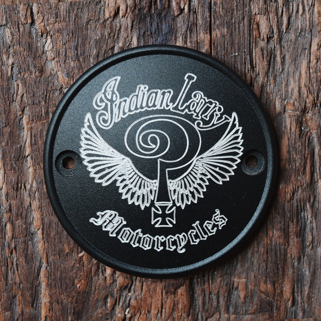 Indian Larry Logo Horizontal Points Cover - Textured Black