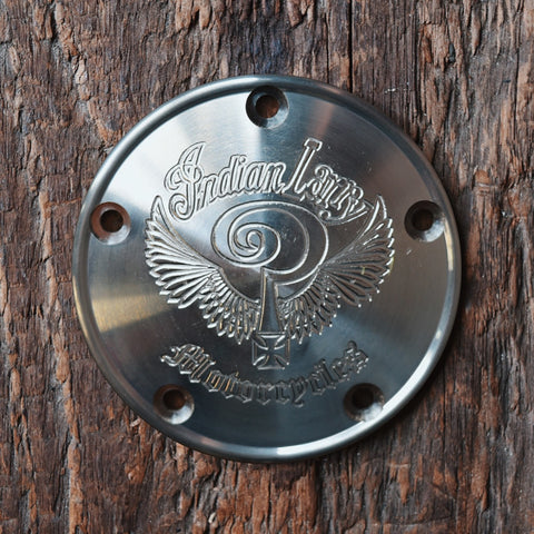 Indian Larry Logo 5 Hole Points Cover - Aluminum