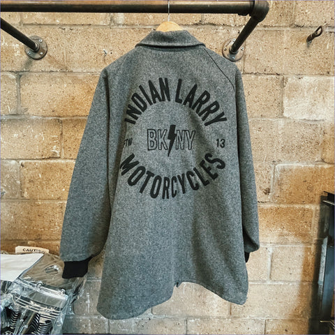 Custom Indian Larry Gray + Black Clicker Coat (XL)