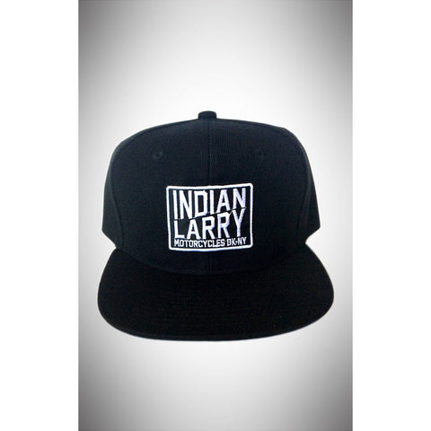Slant Patch Black Cotton Trucker Cap