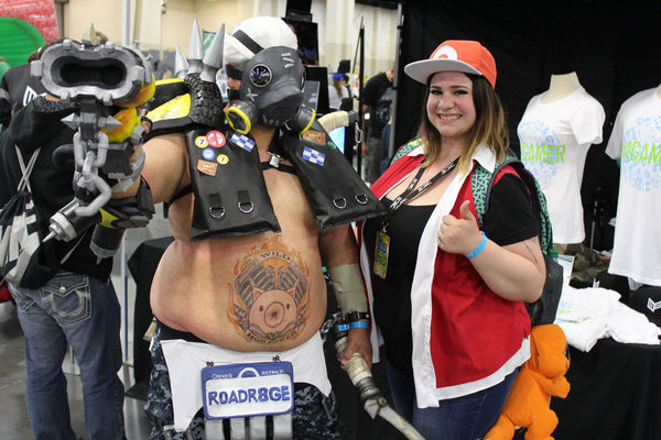 Mainframe Cosplaye Road Hog and Ash Sweetring Gaming Con