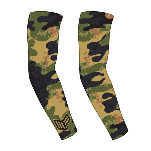 8-Bit Camo Gaming PRO Compression Sleeve Gaming Arm Sleeves Mainframe USA