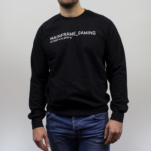 Drop Fleece Raglan Black Sweatshirt  Mainframe USA