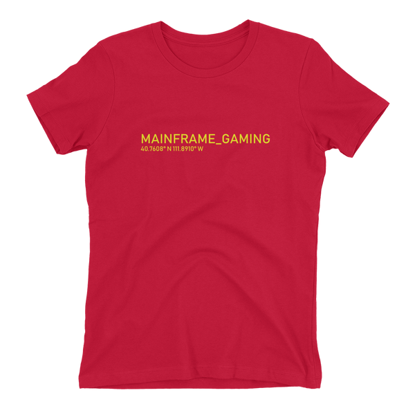 Drop Short-Sleeve Womens T-Shirt  Mainframe USA