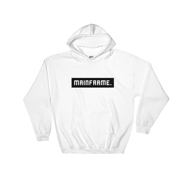 Balanced White Mens Hooded Sweatshirt Hoodie Mainframe USA