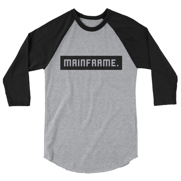 Balanced 3/4 Sleeve Black/Grey Raglan Mens Shirt Video Gaming Streetwear & Esport Clothing