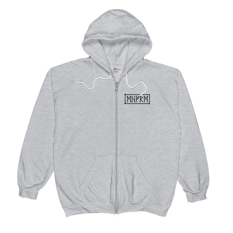 Rage Mens Heather Gray Zip Hoodie Hoodie Mainframe USA