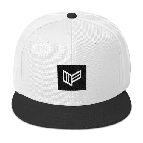 Blocked In White Snapback Hat Hat Mainframe USA