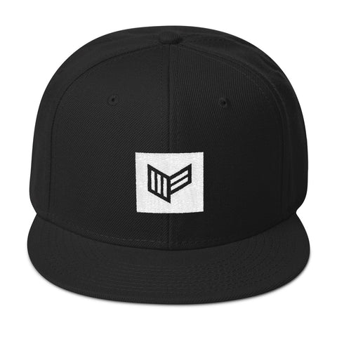 Blocked Black Snapback Hat Hat Mainframe USA