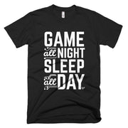 Game All Night, Sleep All Day T-Shirt Mainframe USA